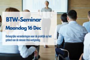 BTW Seminar Uitnodiging